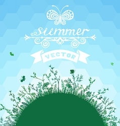 Summer geometric background vector image