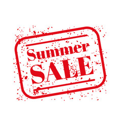 summer sale stamp red vector image