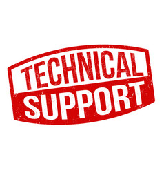 Technical support sign or stamp vector