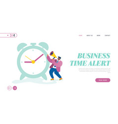 time management website landing page business man vector image