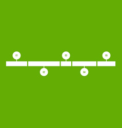 timeline infographic icon green vector image