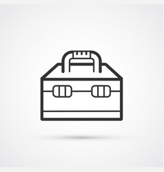 toolbox flat line black icon eps 10 vector image