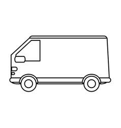 truck flat vector image