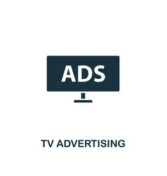 tv advertising icon premium style design from vector image