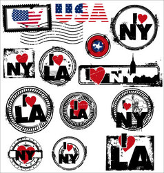 Usa stamps vector