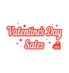 valentine day sales with hanging label vector image