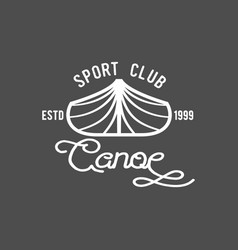 Vintage canoeing logo vector