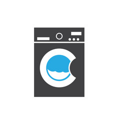 washing machine icon design template isolated vector image