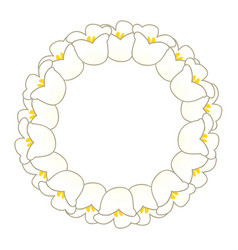 White lily valley wreath vector