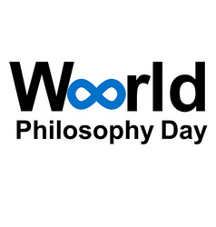 World philosophy day vector