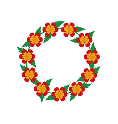wreath of flowers icon vector image