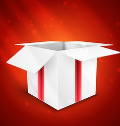 gift box with bow isolated on red background vector image vector image