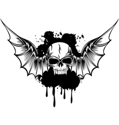 skull with wings 3 vector image vector image