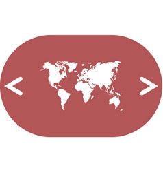 Flat paper cut style icon of world map vector