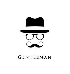 gentleman logo vector image