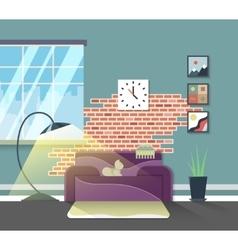 Living room modern interior home furniture vector image