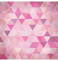Textured vintage pink triangles background vector