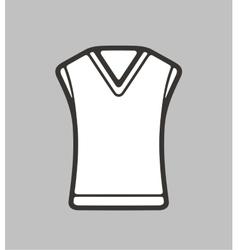 Vest on background vector image vector image