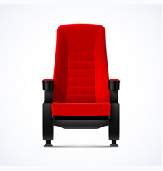 cinema movie theater red comfortable chair vector image vector image