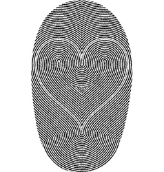 fingerprints and heart vector image vector image