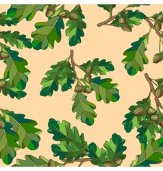 Seamless The leaves and branches vector image vector image