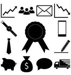 Business signs set Flat icon vector image