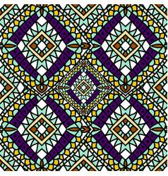 green purple autumn ethnic seamless pattern vector image