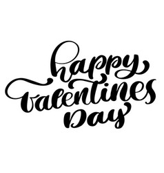 happy valentines day romantic text greeting card vector image