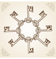 medieval keys vector image vector image