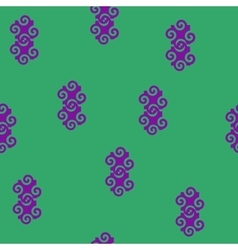 Spiral abstract lilac seamless pattern vector image