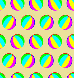 Toy ball pattern seamless vector image