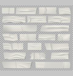 Adhesive tape transparent taped sticky piece vector