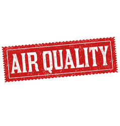 Air quality sign or stamp vector