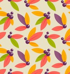 autumn berries pattern vector image