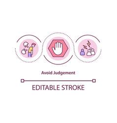 Avoid judgement concept icon vector