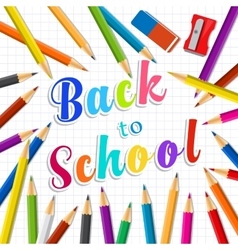 Back to school Rainbow pencils and eraser vector