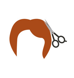 barbershop scissor with hair vector image