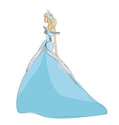 Beautiful princess - doodle vector