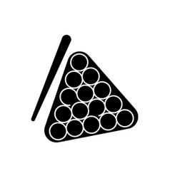 billiards icon black sign on vector image vector image