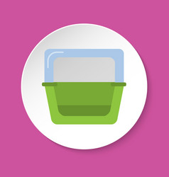 Bird bath accessory for cage in flat style vector