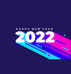 Bright dynamic banner for 2022 new year vector