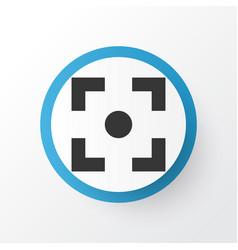 center focus icon symbol premium quality isolated vector image