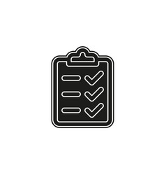 clipboard icon - check list checklist form vector image
