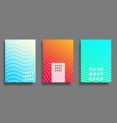 colorful gradient cover for flyer poster vector image