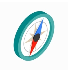 Compass icon isometric 3d style vector