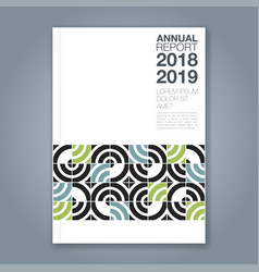 Cover annual report 826 vector