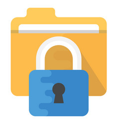 Data security flat icon vector