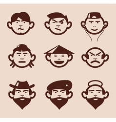 different faces and different emotions vector image vector image