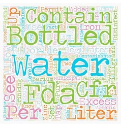 Do You Know What Bottled Water Has In It text vector image vector image