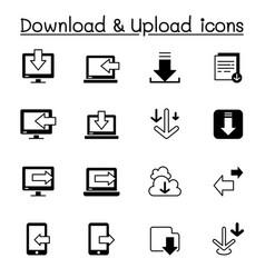 download upload icons set graphic design vector image